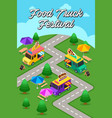 street food truck festival poster vector image vector image