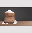 sugar in sack vector image vector image