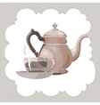 tea service vector image