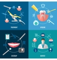 Teeth care Dental services concepts set vector image