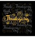 Thanksgiving Lettering Black Set vector image vector image