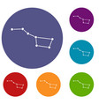 the great bear constellation icons set vector image vector image