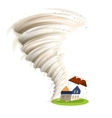 Tornado Damages House vector image vector image