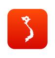 vietnam map icon digital red vector image vector image