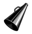 vintage black director megaphone concept vector image vector image