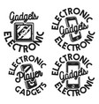 vintage electronic gadgets emblems vector image vector image