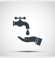 washing hands under faucet with water vector image