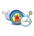 with clock yoyo character cartoon style vector image