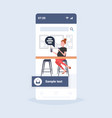 woman using laptop chat bubble social media vector image