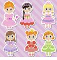 Big set of beautiful princesses vector image