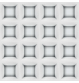 White abstract cubes 3D seamless pattern vector image