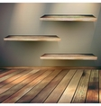 Wooden shelves background EPS 10 vector image
