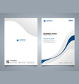 abstract blue line color modern brochure template vector image