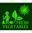 agriculture concept green symbol vector image vector image