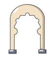 archway vintage icon cartoon style vector image vector image