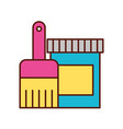 artistic color bucket and brush tool vector image