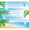 bannerbeach vector image vector image