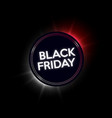 black friday sale neon banner vector image vector image