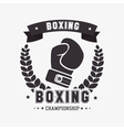boxing gloves punch isolated vector image