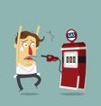 businessman rob gas station vector image