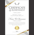 certificate or diploma retro template 07 vector image vector image