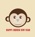 Chinese New Year design with Cute monkeys in vector image