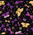 colorful graphic large scale butterflies seamless vector image vector image