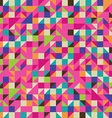 Colorful mosaic with triangles and squares vector