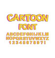 cute cartoon english font vector image vector image