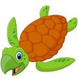 Cute sea turtle cartoon vector image vector image