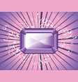 decorative background with amethyst vector image