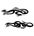 Dragons tattoos vector image