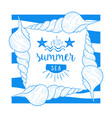 enjoy summer sea banner template summer time vector image vector image