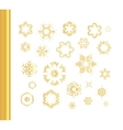 Ethnic vintage gold pattern vector image vector image