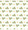 flower and dot seamless pattern vector image vector image