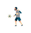 football player goalkeeper with ball isolated vector image