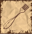 Fork icon isolated on vintage background vector image vector image