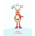 funny happy deer character vector image vector image