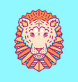geometric head of lion simple forms vector image