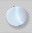 glossy glass acrylic or plastic circle badge vector image