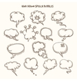 Hand Drawn Speech Bubbles Sketch vector image vector image