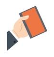 hand holding tablet communication shop online vector image