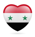 Heart icon of Syria vector image