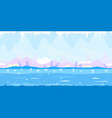 ice cave game background flat landscape vector image vector image