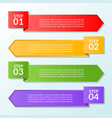 infographic template of flag four steps or vector image vector image