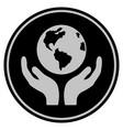 international insurance black coin vector image
