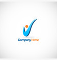 letter v abstract company logo vector image