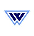letter w logo concept icon vector image vector image