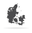map denmark isolated black vector image vector image