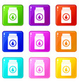 matchbox icons 9 set vector image vector image
